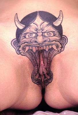 devil vagina tattoo